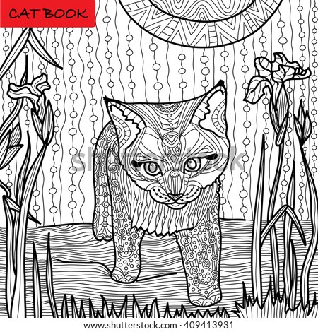 Coloring Page For Adults Surprised Kittens Are At Great Book Hand Drawn