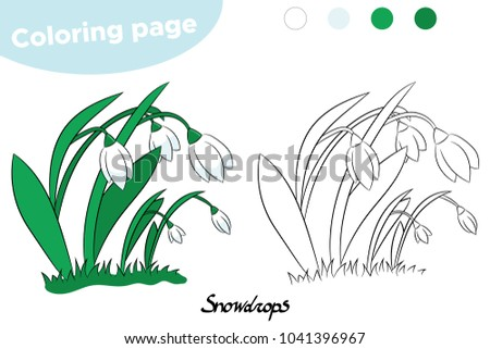 Coloring Page For Children Spring Flowers