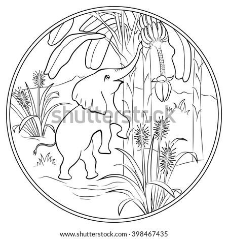 Coloring Page Cute Squirrel Stock Vector 456439003 Shutterstock