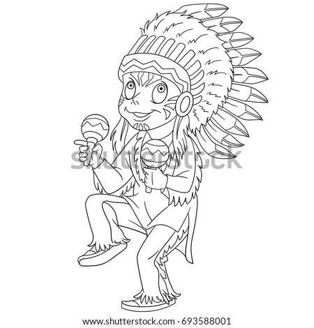 Native American Children Coloring Pages