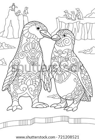 Emperor penguin coloring pages for adults emperor best for Penguin adult coloring pages