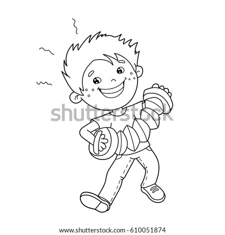 coloring page outline cartoon boy playing stock vector 610051874 saxophone coloring page coloring page outline of