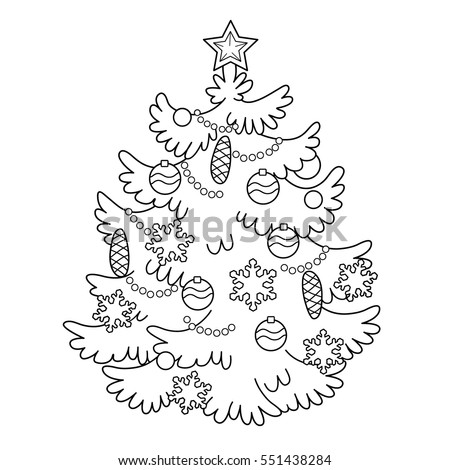 Coloring Ornaments For Christmas Tree