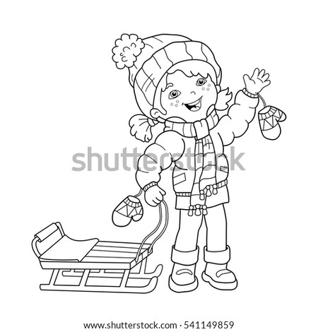 Child Coloring Page Outline Coloring Pages