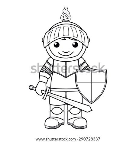 Coloring Page Vector Illustration Black White Stock Vector 290728337 ...