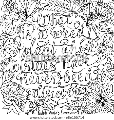 coloring page motivational quote coloring adult stock vector rh shutterstock com adult coloring pages qoute coloring - Quote Coloring Pages