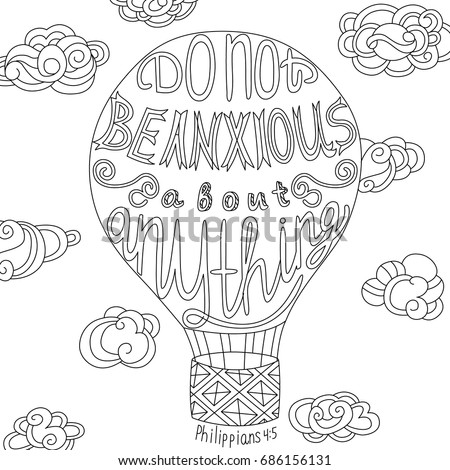 Coloring Page Motivational Quote Coloring Adult Stock Vector 686155048