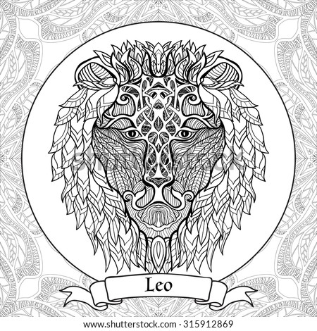 Coloring Page Pattern Zodiac Sign Virgo Stock Vector 315912884