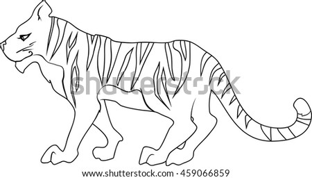 Coloring page with tiger