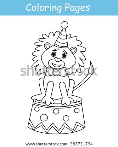 Coloring Pages Circus Lion Game For Kids