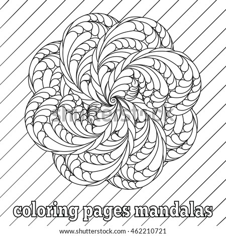 Coloring Pages Adults Older Children Vector Stock Vector 462210721 ...