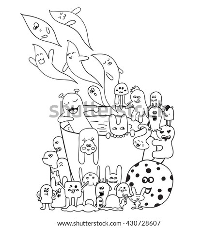 Coloring Pages Adults Coloring Book Black Stock Vector 430728607