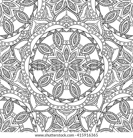 Coloring Pages For Adults BookDecorative Hand Drawn Doodlezentangle Nature Ornamental