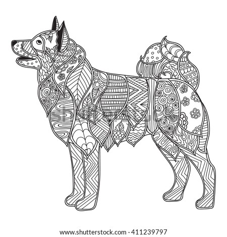Coloring Pages For Adults BookDog With High Details Adult Antistress Or