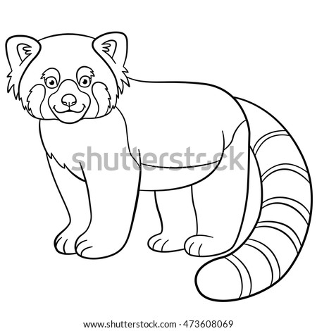 red panda cute coloring pages - photo#29