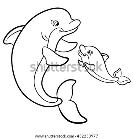 how to draw a cute baby dolphin