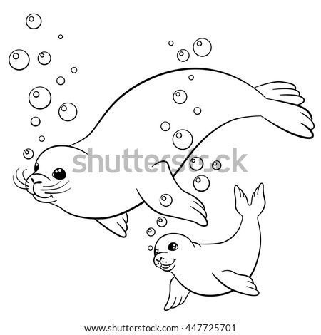 Seal pup coloring coloring pages for Seal coloring pages