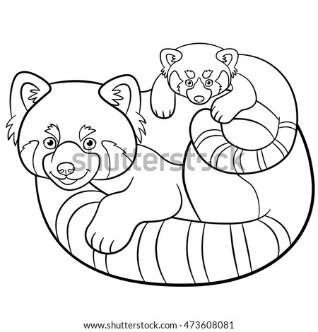 cute baby panda coloring pages - stock images royalty free images vectors shutterstock