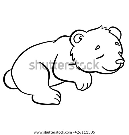 coloring pages wild animals little cute stock vector 425997166 shutterstock. Black Bedroom Furniture Sets. Home Design Ideas