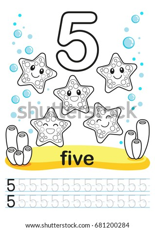 coloring printable worksheet kindergarten preschool we stock vector 681200284 shutterstock. Black Bedroom Furniture Sets. Home Design Ideas