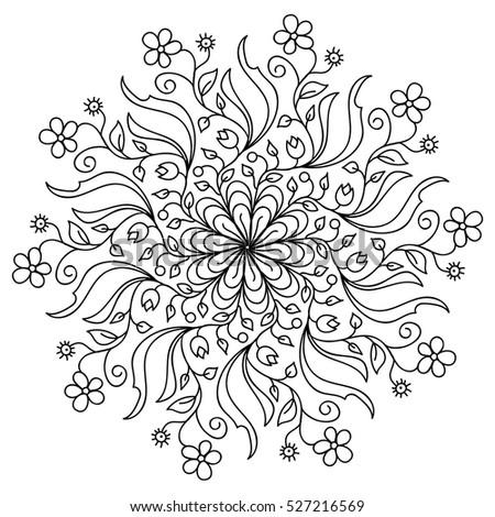 Mandala Black And White Stock Images Royalty Free Images
