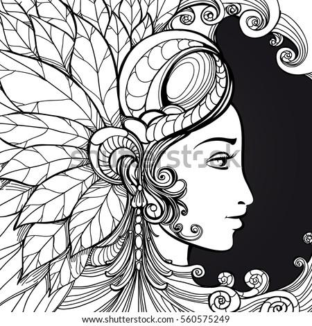 Zentangle im genes pagas y sin cargo y vectores en stock for Doodle art faces