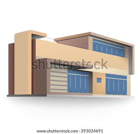 Colors new housing model vector design on a white background