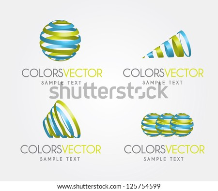 Colors vector over white background vector illustration - stock vector
