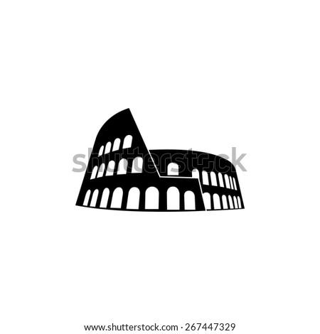 Colosseum ,Roma icon - stock vector
