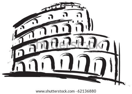 Colosseum. Vector illustration. - stock vector