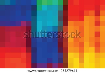 Colour bright mosaic background / Color tiles / Color Palette  included - stock vector