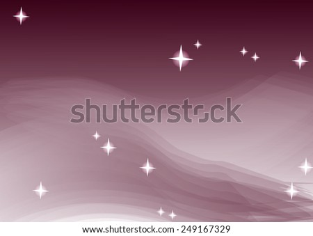 Colour glittering background with shining star dust - magical violet background