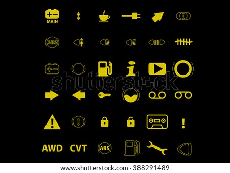 colour icon pack car information pictograms