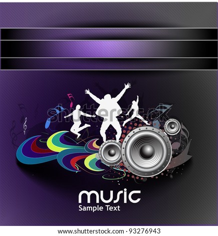 Colour vector the party dance poster design use. - stock vector