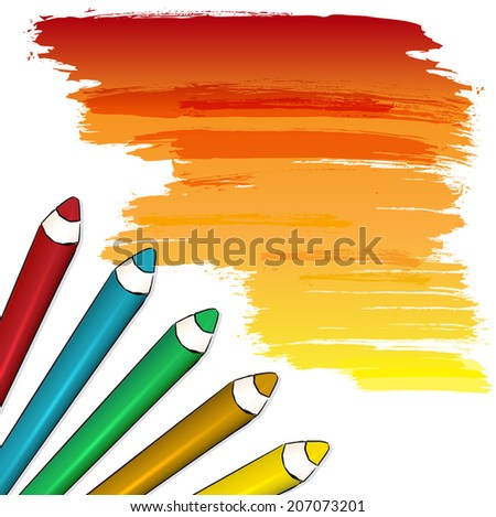 Coloured pencils - stock vector