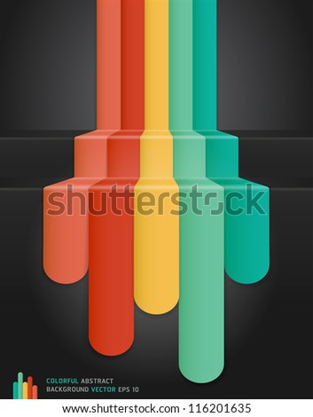 Colourful Abstract Background. Vector illustration - stock vector