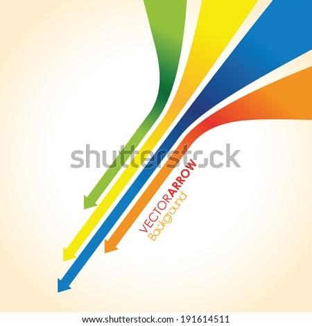 colourful arrow line background - stock vector
