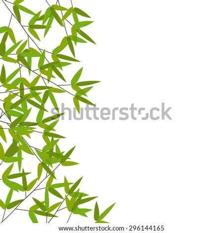 Colourful Bamboo Leaves. Vector Illustration. EPS10 - stock vector