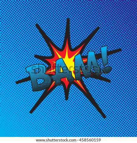 Colourful comic book style explosion vector design