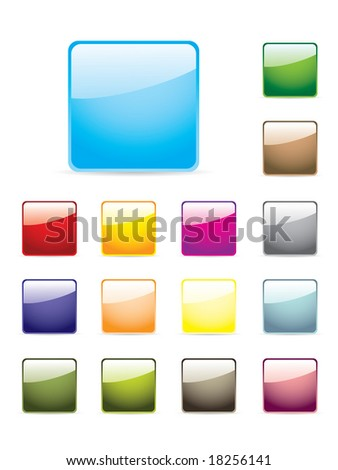 Colourful glossy buttons
