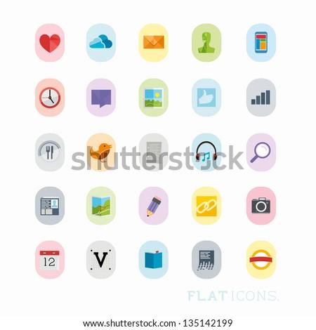 Colourful Icon Designs, modern vector set. - stock vector