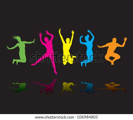 colourful jumpers - stock vector