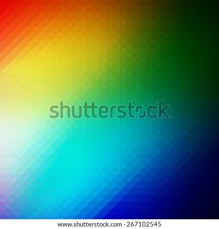Colourful Triangular Rainbow Background. Bright Geometric Pattern. Spectrum Vector Illustration. - stock vector