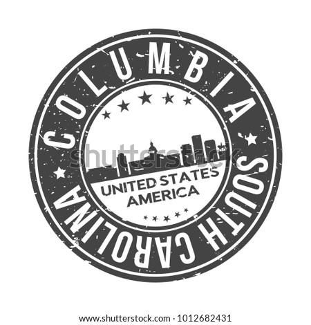 Columbia South Carolina Usa Stamp Logo Stock Vector Royalty Free