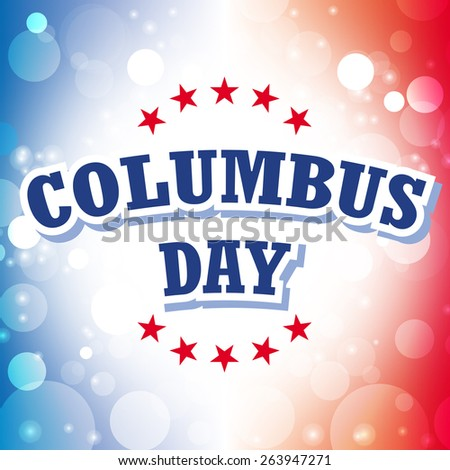 columbus day america greeting card abstract celebration background vector