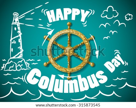 Columbus Day Greeting Card