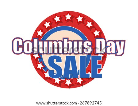 Columbus Day Sale Graphic Banner
