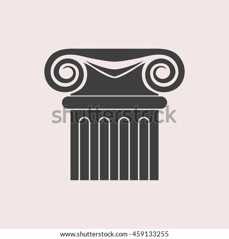 Column web icon. Isolated illustration