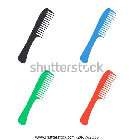 comb icon - colored vector illustration - stock vector