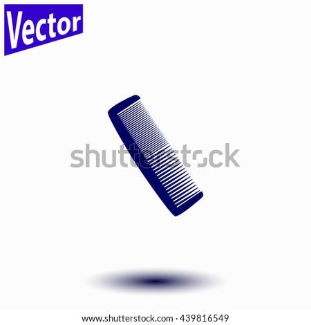 Comb icon. Comb icon vector. - stock vector